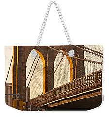 Weekender Tote Bag featuring the photograph Brooklyn Bridge - New York by Luciano Mortula