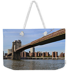 Weekender Tote Bag featuring the photograph Brooklyn Bridge1 by Zawhaus Photography