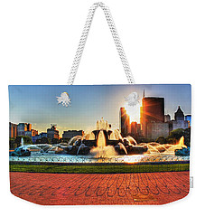Buckingham Fountain Weekender Tote Bag