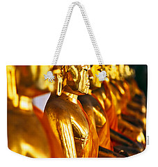 Weekender Tote Bag featuring the photograph Buddhas by Luciano Mortula