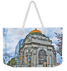 Weekender Tote Bag featuring the photograph Buffalo Savings Bank  Goldome  M And T Bank Branch by Michael Frank Jr