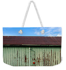 Weekender Tote Bag featuring the photograph Building Series - Red Shack by Kathleen Grace