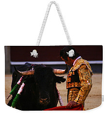 Bullfight Madrid Weekender Tote Bag