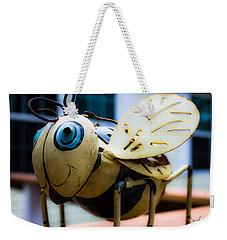 Bumble Bee Of Happiness Metal Sculpture Weekender Tote Bag