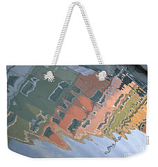 Weekender Tote Bag featuring the photograph Burano House Reflections by Rebecca Margraf