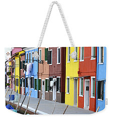Weekender Tote Bag featuring the photograph Burano Italy 2 by Rebecca Margraf