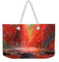 Burning Lake Weekender Tote Bag