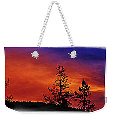 Weekender Tote Bag featuring the photograph Burning Sunrise by Janie Johnson