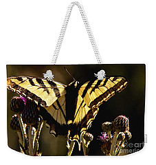 Butterfly And Thistle II Weekender Tote Bag by Angelique Olin