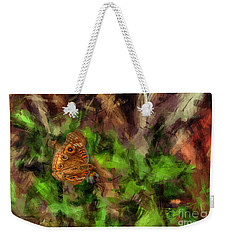Weekender Tote Bag featuring the photograph Butterfly Camouflage by Dan Friend