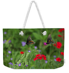 Butterfly Chase Weekender Tote Bag by Susan Rovira