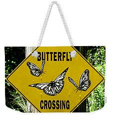 Butterfly Crossing Weekender Tote Bag