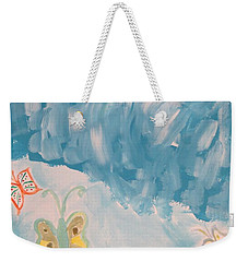 Weekender Tote Bag featuring the painting Butterfly Flight by Sonali Gangane