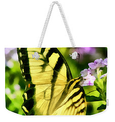 Butterfly Weekender Tote Bag by Lynne Jenkins