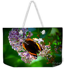 Butterfly On Lilac Weekender Tote Bag by Kevin Fortier