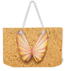 Butterfly Sea Shell Weekender Tote Bag