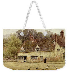 By The Old Cottage Weekender Tote Bag by Helen Allingham