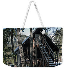 Weekender Tote Bag featuring the photograph Cabin Get Away by Tikvah's Hope