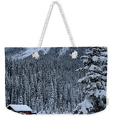 Cabin In The Snow Weekender Tote Bag by Alyce Taylor