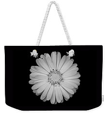 Calendula Flower - Black And White Weekender Tote Bag