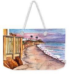 Weekender Tote Bag featuring the painting California Coast by Clara Sue Beym