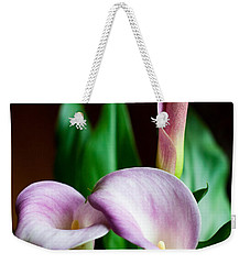 Weekender Tote Bag featuring the photograph Calla Lily by Barbara McMahon