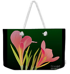 Canna Lilly Whimsy Weekender Tote Bag by Rand Herron