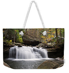 Canyon Waterfall Weekender Tote Bag by David Troxel