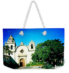 Weekender Tote Bag featuring the photograph Carmel Mission by Nina Prommer