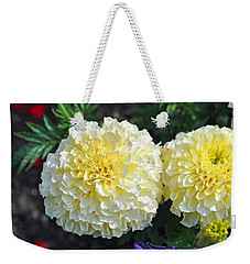 Weekender Tote Bag featuring the photograph Carnations by Tikvah's Hope