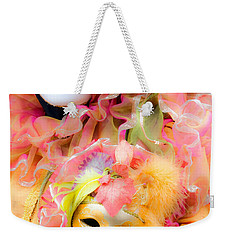 Weekender Tote Bag featuring the photograph Carnival Mask by Luciano Mortula