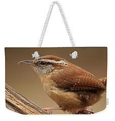 Weekender Tote Bag featuring the photograph Carolina Wren by Daniel Reed
