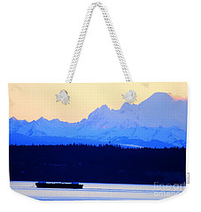 Washington Puget Sound Cascade Waterway Weekender Tote Bag