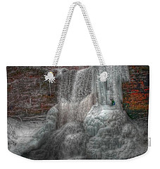 Cascades In Winter 3 Weekender Tote Bag