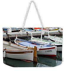 Cassis Harbor Weekender Tote Bag by Carla Parris