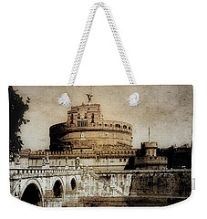 Weekender Tote Bag featuring the photograph Castel Sant' Angelo Rome by Julie Palencia