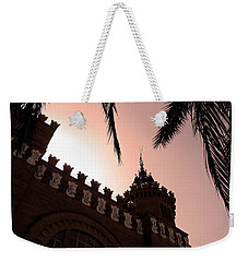 Weekender Tote Bag featuring the photograph Castell Dels Tres Dragons - Barcelona by Juergen Weiss