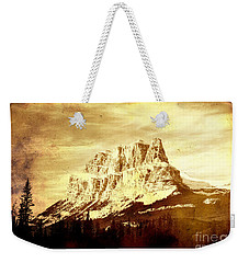 Castle Mountain Weekender Tote Bag by Alyce Taylor