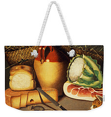 Cat Mouse Bacon And Cheese Weekender Tote Bag by Anonymous