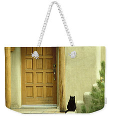 Weekender Tote Bag featuring the photograph Cat Post by Brent L Ander