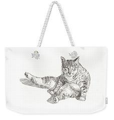 Cat Sitting Weekender Tote Bag