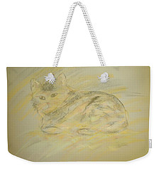 Cat Sketch 2 Weekender Tote Bag
