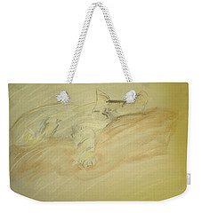 Cat Sketch Weekender Tote Bag