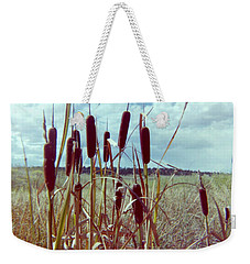 Weekender Tote Bag featuring the photograph Cat Tails by Bonfire Photography