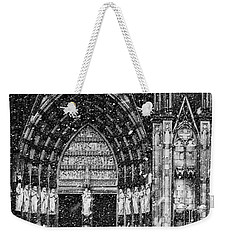 Weekender Tote Bag featuring the photograph Cathedral In The Snow Panorama by Andy Prendy
