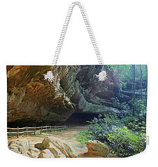 Cave Entrance Weekender Tote Bag by Myrna Bradshaw