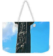 Weekender Tote Bag featuring the photograph Celtic Cross by Charlie and Norma Brock