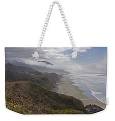 Weekender Tote Bag featuring the photograph Central Oregon Coast Vista by Mick Anderson