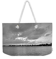 Weekender Tote Bag featuring the photograph Channel View by Sarah McKoy