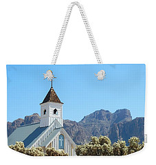Weekender Tote Bag featuring the photograph Chapel In Superstitions by Penny Meyers